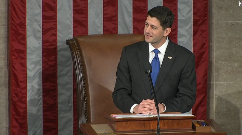 House Speaker Paul Ryan addresses the US Congress