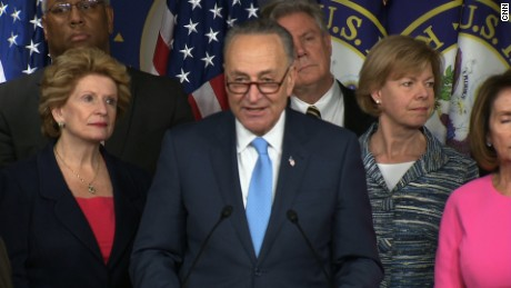 Sen. Chuck Schumer (D-NY) addresses the media about the Democrats' plan to keep Obamacare