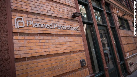 A Planned Parenthood office is seen on November 30, 2015 in New York City.