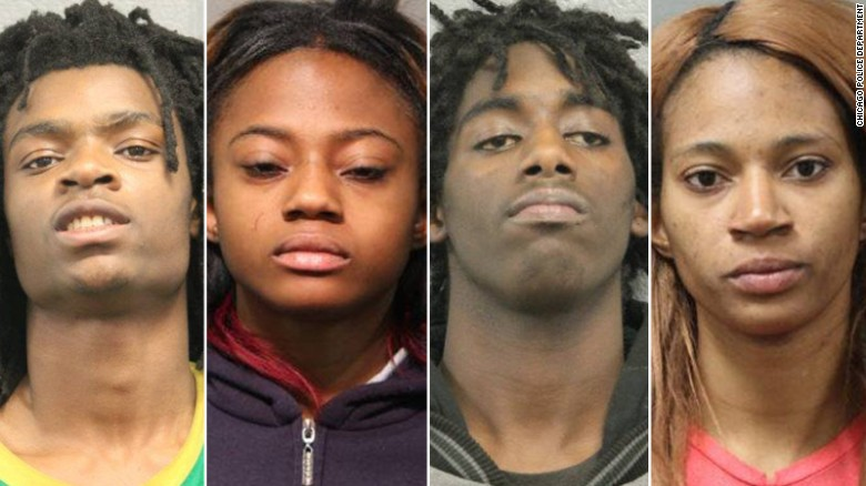 Four charged for Facebook Live beating video