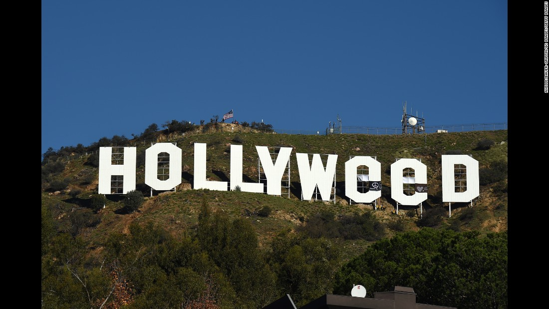 "The iconic Hollywood sign <a href=""http://www.cnn.com/2017/01/01/us/hollywood-hollyweed-sign/"" target=""_blank"">was vandalized to read ""Hollyweed""</a> on Sunday, January 1. It was like that for about half a day until authorities took down the tarps that were used to change the lettering."