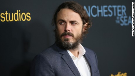 "BEVERLY HILLS, CA - NOVEMBER 14:  Actor Casey Affleck attends the premiere of Amazon Studios' ""Manchester By The Sea"" at Samuel Goldwyn Theater on November 14, 2016 in Beverly Hills, California.  (Photo by Phillip Faraone/Getty Images)"