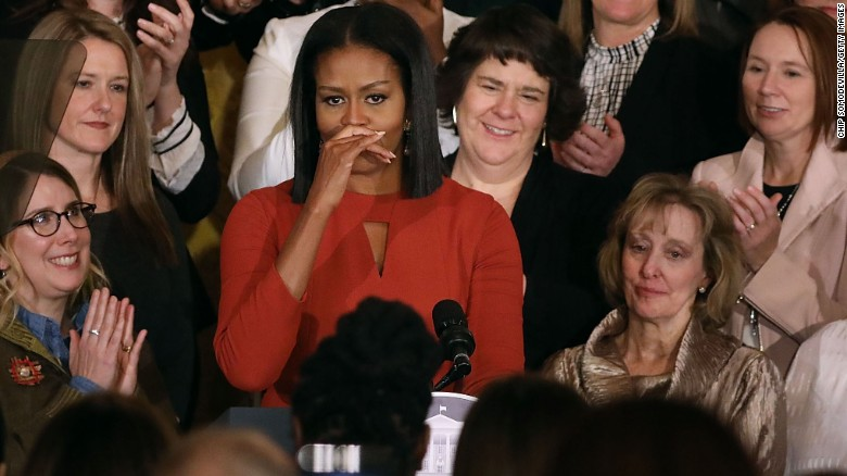 Michelle Obama's emotional final speech