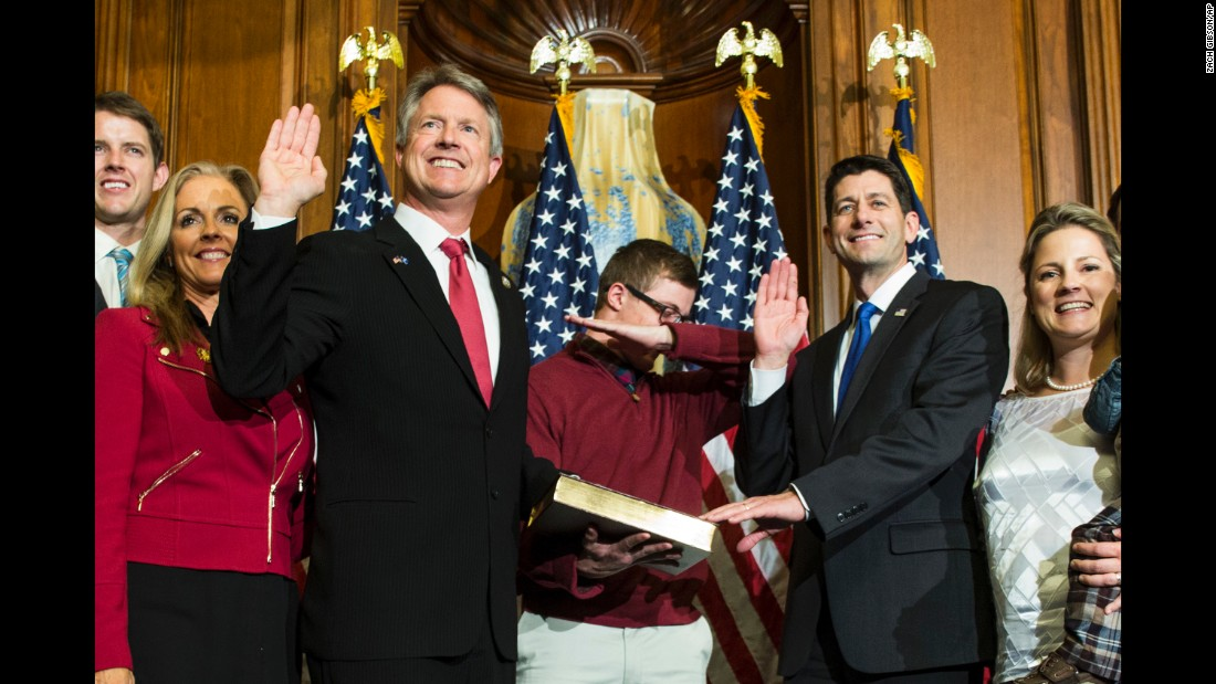 "US Rep. Roger Marshall's son <a href=""http://edition.cnn.com/2017/01/03/politics/congressman-son-dab-swearing-in-paul-ryan/index.html"" target=""_blank"">dabs</a> during a mock swearing-in ceremony on Capitol Hill on Tuesday, January 3."