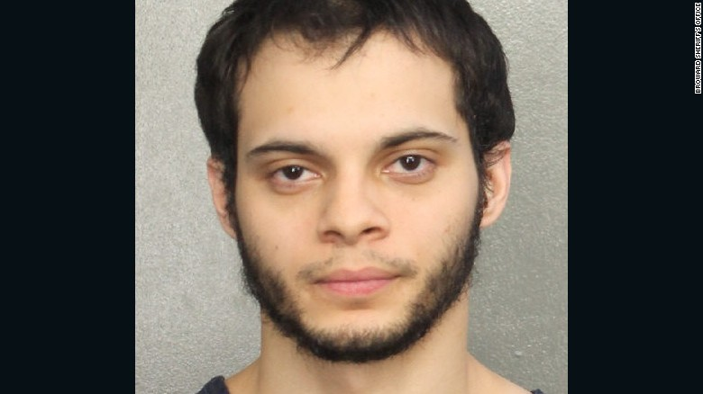 Booking shot of Fort Lauderdale airport suspect