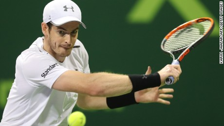 Britain's Andy Murray produced stunning tennis to claw his way back into the match at one set all in Doha.