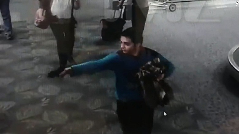 Video shows moment airport gunman opened fire