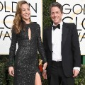 golden globes 2017 - Anna Elisabet Eberstein and Hugh Grant