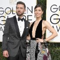 golden globes 2017 - Justin Timberlake and Jessica Biel