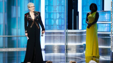 Meryl Streep accepts  Cecil B. DeMille Award  during the 74th Annual Golden Globe Awards at The Beverly Hilton Hotel on January 8, 2017 in Beverly Hills, California.