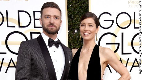 BEVERLY HILLS, CA - JANUARY 08:  Singer/actor Justin Timberlake (L) and actress Jessica Biel attend the 74th Annual Golden Globe Awards at The Beverly Hilton Hotel on January 8, 2017 in Beverly Hills, California.  (Photo by Frazer Harrison/Getty Images)