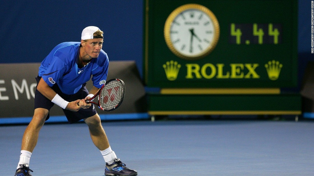 Melbourne holds the record for the latest finish at a grand slam -- in 2008, when Lleyton Hewitt completed his win over Marcos Baghdatis at 4:34 a.m.
