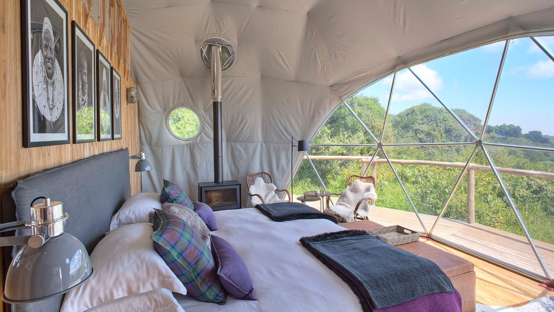 <strong>Luxury camp in Tanzania:</strong> The Highlands is a newly opened luxury camp in Tanzania's Ngorongoro Conservation Area.