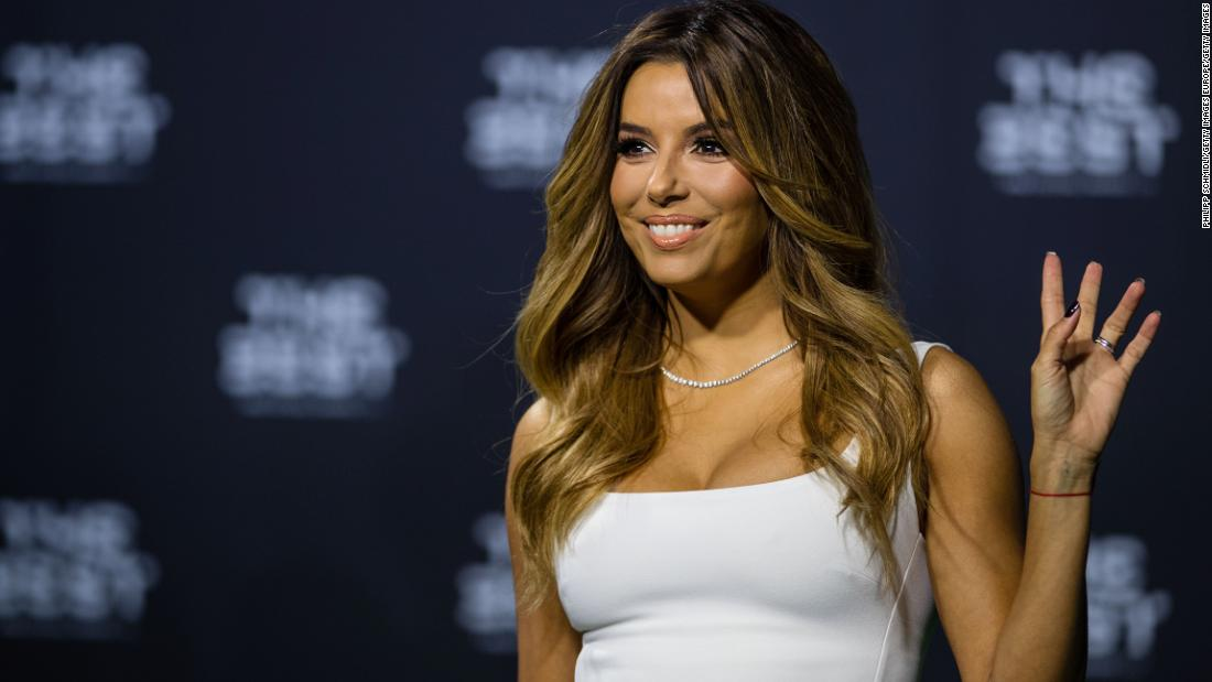 Hollywood actress Eva Longoria was one of the event's co-hosts.