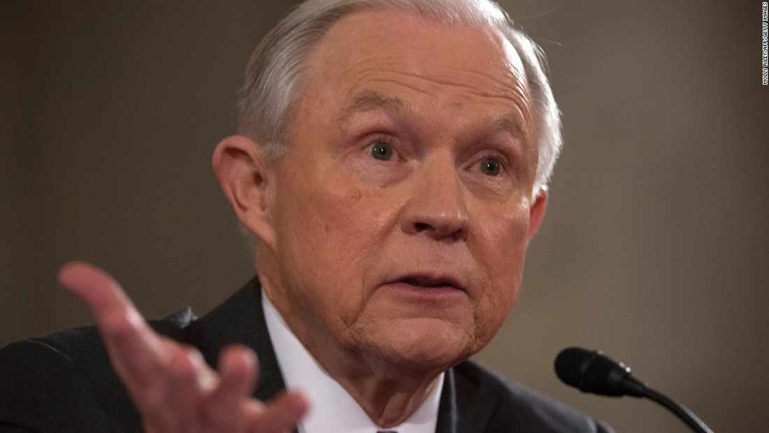 "In his <a href=""http://www.cnn.com/2017/01/10/politics/jeff-sessions-confirmation-hearing-expectations/"" target=""_blank"">wide-ranging confirmation hearing,</a> Sessions pledged to recuse himself from all investigations involving Hillary Clinton based on inflammatory comments he made during a ""contentious"" campaign season. He also defended his views of the Supreme Court's Roe v. Wade ruling on abortion, saying he doesn't agree with it but would respect it."