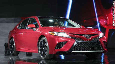 DETROIT, MI - JANUARY 09:  Toyota introduces the all-new 2018 Camry at the North American International Auto Show (NAIAS) on January 9, 2017 in Detroit, Michigan. The show is open to the public from January 14-22.  (Photo by Scott Olson/Getty Images)