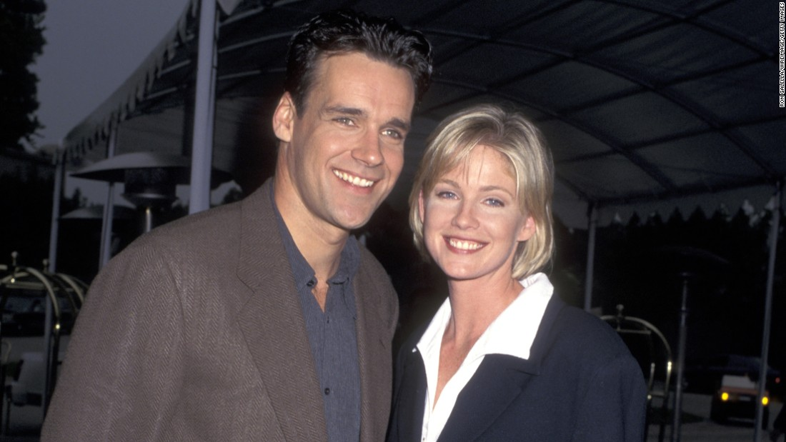 Actress Tracey Needham, seen here with David James Elliott, celebrated her milestone on March 28.