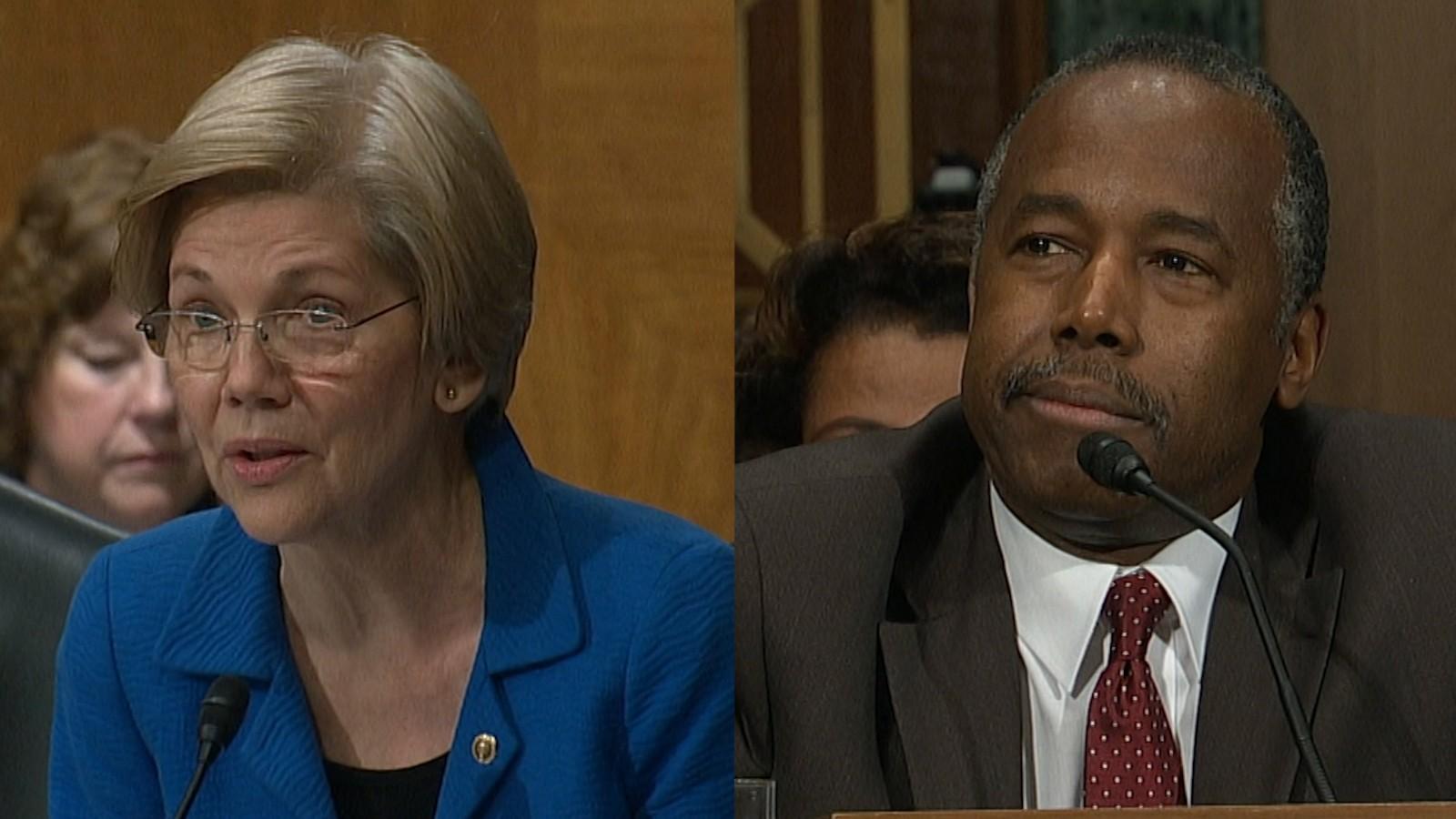 Warren to Carson: Will HUD benefit Trump? - CNN Video