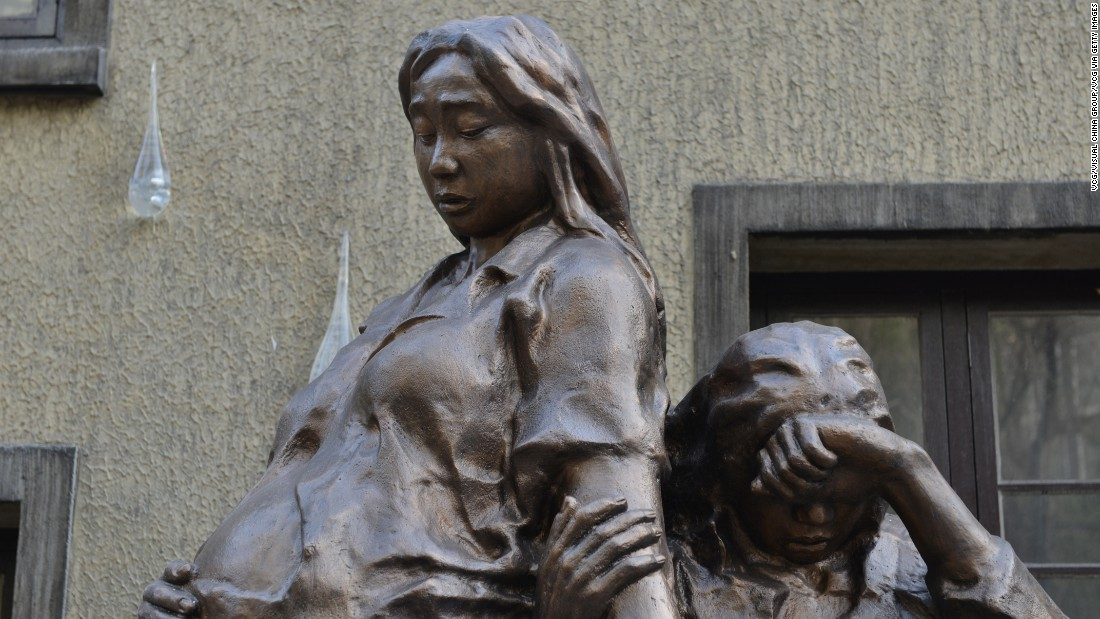 "Other memorials to ""comfort women"" also exist around the world, including this statue in Shanghai, China."