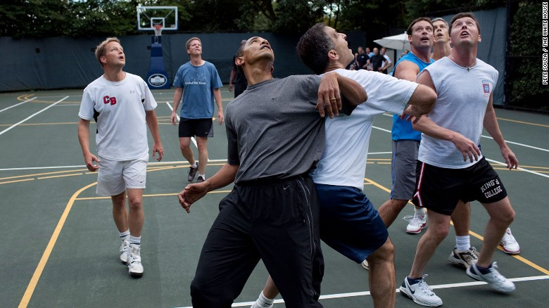 what s it like to play basketball with obama cnn video