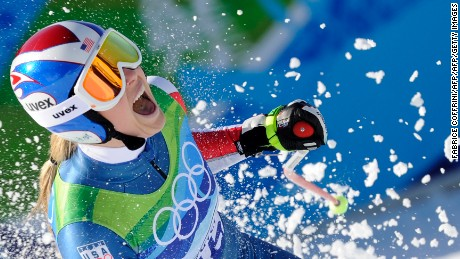 Vonn became the first American woman to win Olympic downhill gold with victory in 2010.