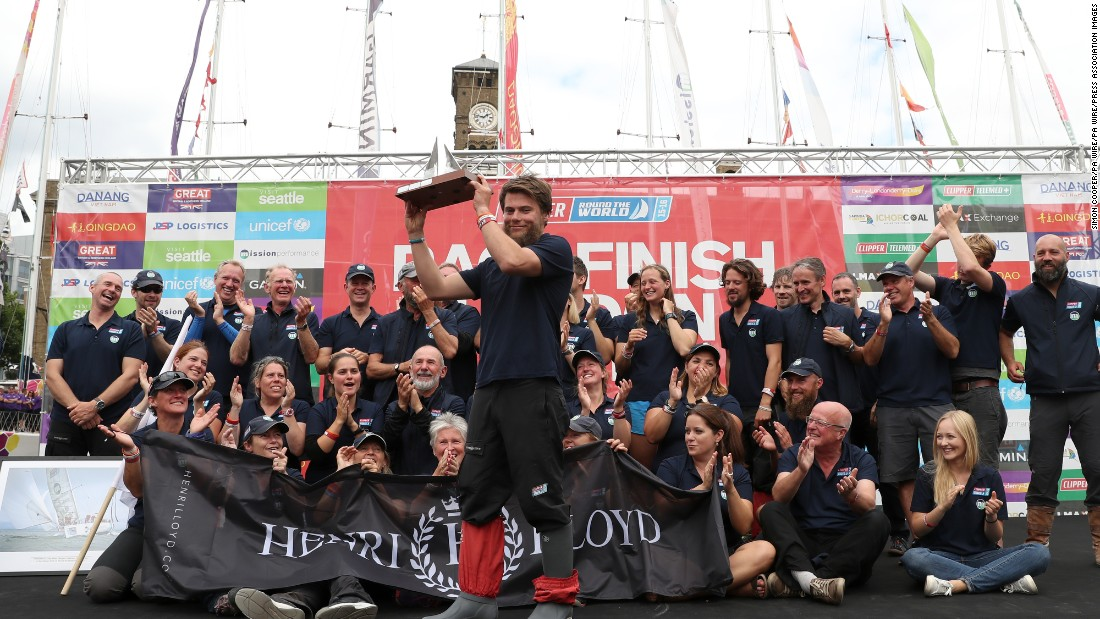 He had previously been honored by the Clipper Race after a dramatic mid-ocean rescue in which he battled for two hours to free a stricken crew member.