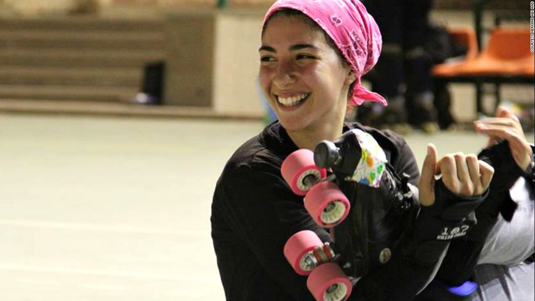 This month, Egyptian roller derby team the CaiRollers will compete in the first regional match of its kind against Abu Dhabi. The Arab world may not be foremost on people's minds when they think of roller derby, but, 25 girls bound on female solidarity want to change all that. <br /><br />Pictured: Sumer Abd El Nasser, a script writer has been a player at CaiRollers for over three years.