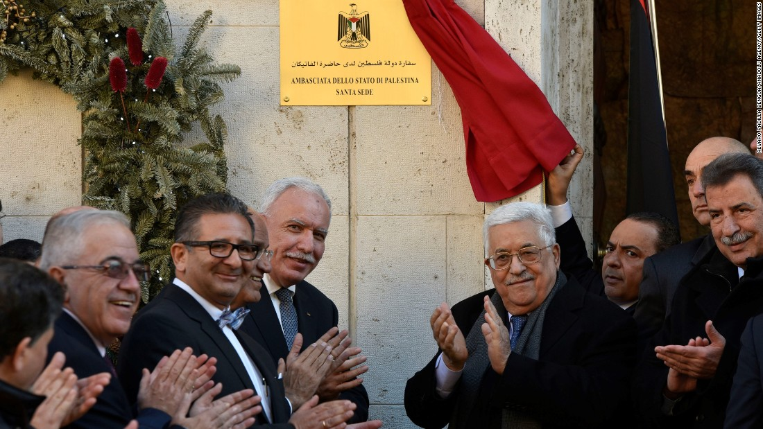 Palestinian embassy opens in Vatican City