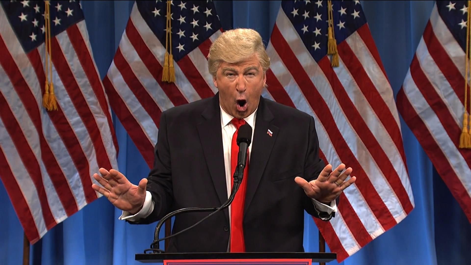 SNL' mocks Trump's press conference - CNN Video