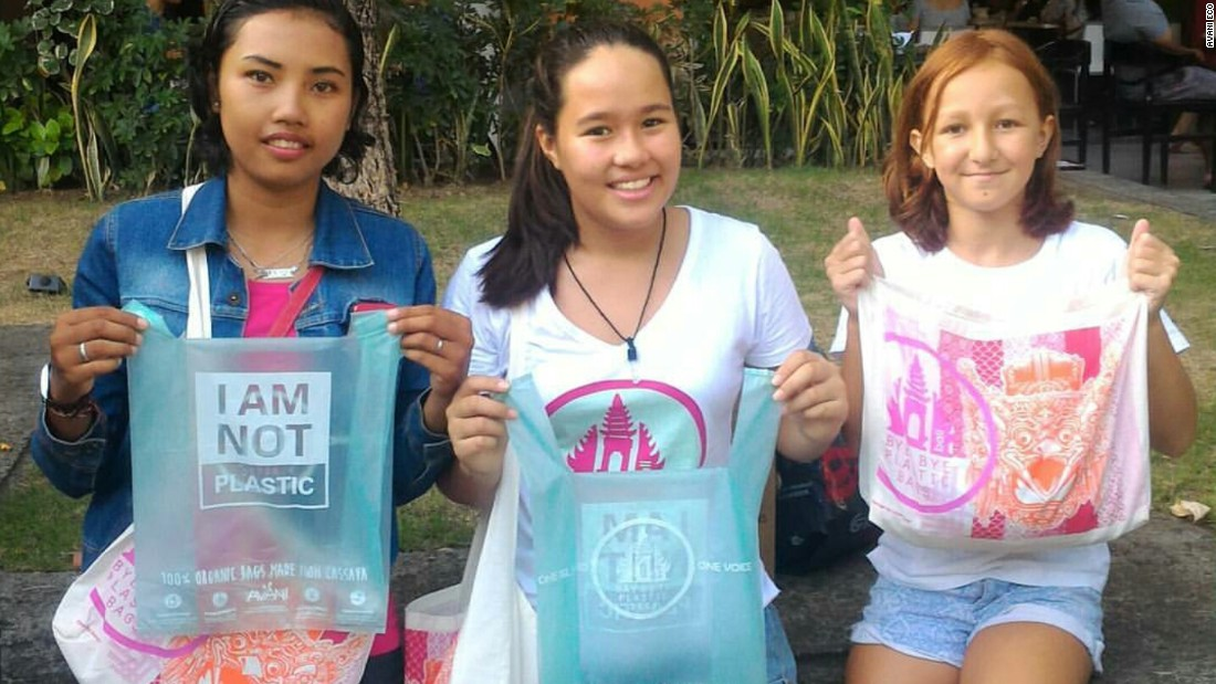 "Avani Eco has allied with ""Bye Bye Plastic Bags"" campaigners Melati and Isabel Wijsen to lobby the Balinese government to control plastic pollution. <br /><br />As of 2018, conventional plastic bags will be banned on the island."
