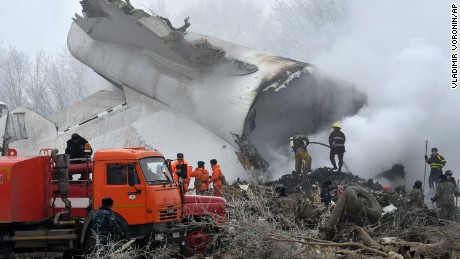 Cargo plane crash in Kyrgyzstan village