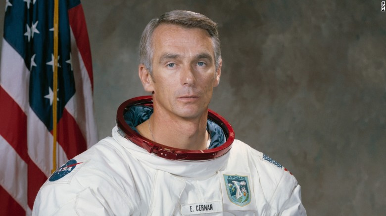 Gene Cernan, last man to walk the moon, dies