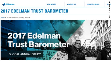 Edelman screen shot of 2017 Trust Barometer