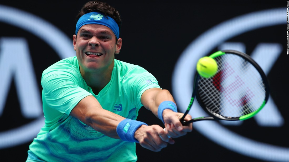World No. 3 Milos Raonic overcame the enterprising Dustin Brown -- who has upset top seeds at grand slams in the past -- in straight sets.