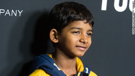 Actor Sunny Pawar attends the premiere of the Weinstein Company's 'The Founder' at ArcLight Cinemas Cinerama Dome on January 11, 2017, in Hollywood, California.
