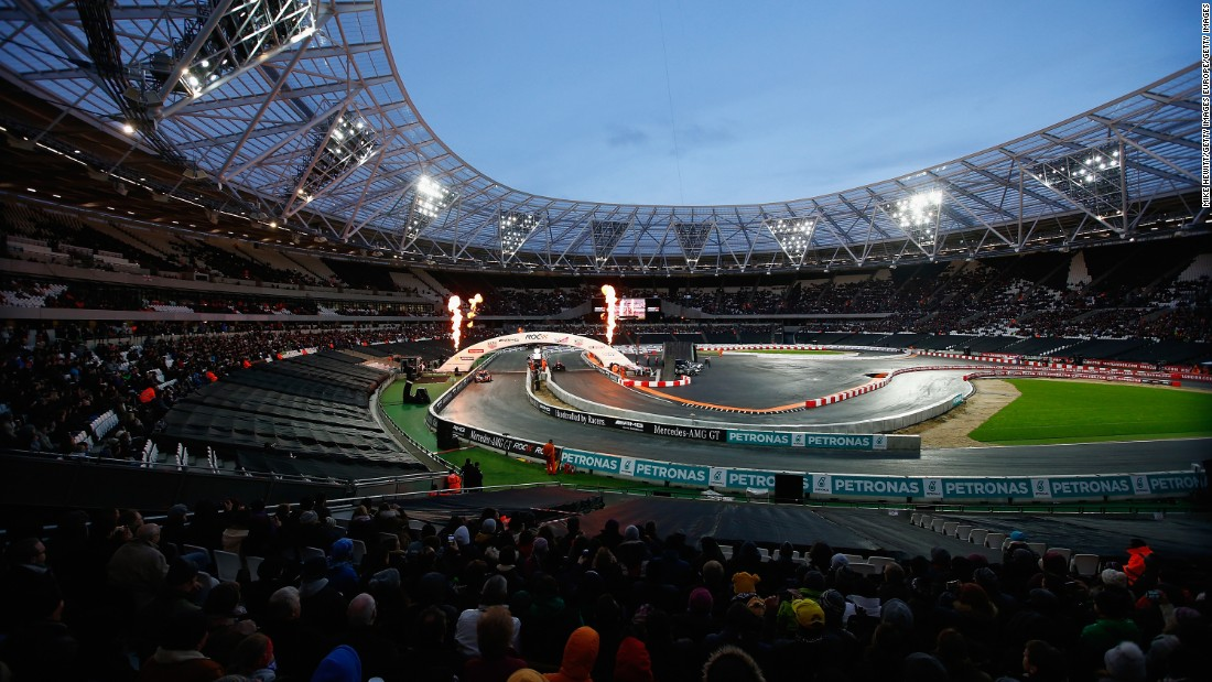 ROC is coming to North America for the first time in 2017. The event has been staged at some of the iconic sporting venues around the globe including the Olympic Stadium in London (seen here), the Bird's Nest stadium in Beijing and Paris' Stade de France.