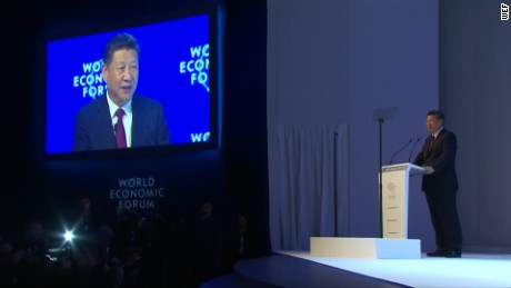 Xi Jinping praises free trade in speech