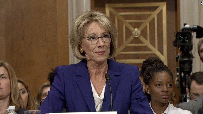 betsy devos confirmation hearing