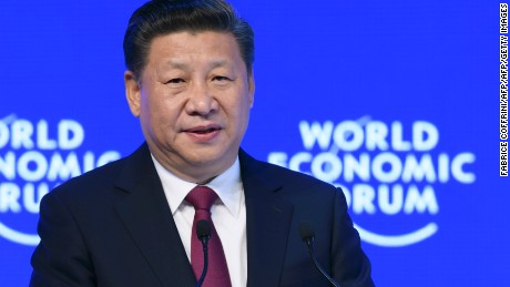 China's President Xi Jinping delivers a speech on the opening day of the World Economic Forum, on January 17, 2017 in Davos. The global elite begin a week of earnest debate and Alpine partying in the Swiss ski resort of Davos on Tuesday, in a week bookended by two presidential speeches of historic import. / AFP / FABRICE COFFRINI        (Photo credit should read FABRICE COFFRINI/AFP/Getty Images)