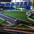 ROC Marlins Park track nears completion