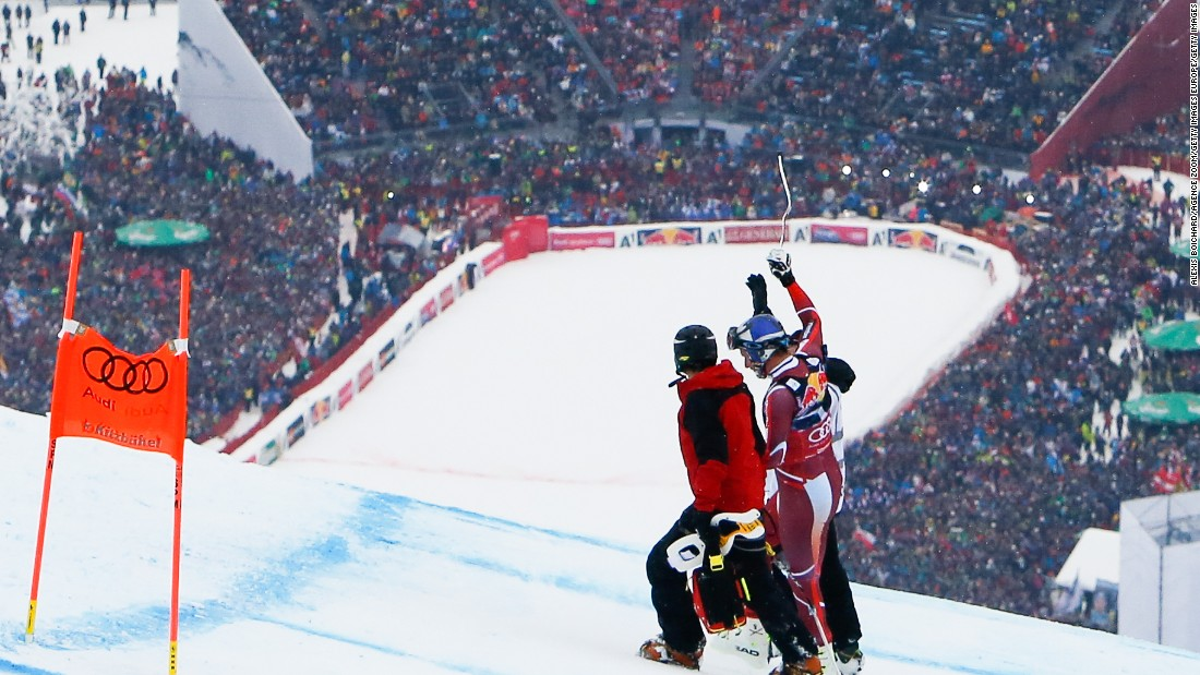 Svindal walked away from his spectacular crash but tore his anterior cruciate ligament and was ruled out for the season.