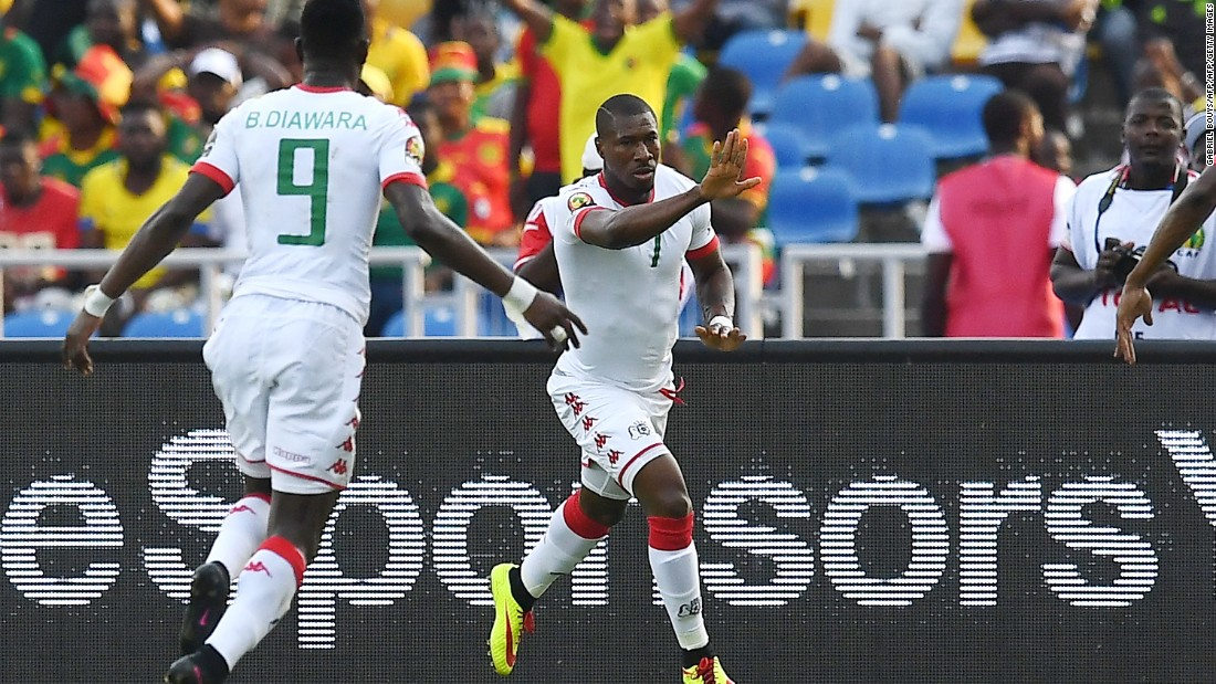 But it was Burkina Faso that struck first in Group A's second round of fixtures, with enforced substitute Préjuce Nakoulma getting his name of the scoresheet just past the half-hour mark.