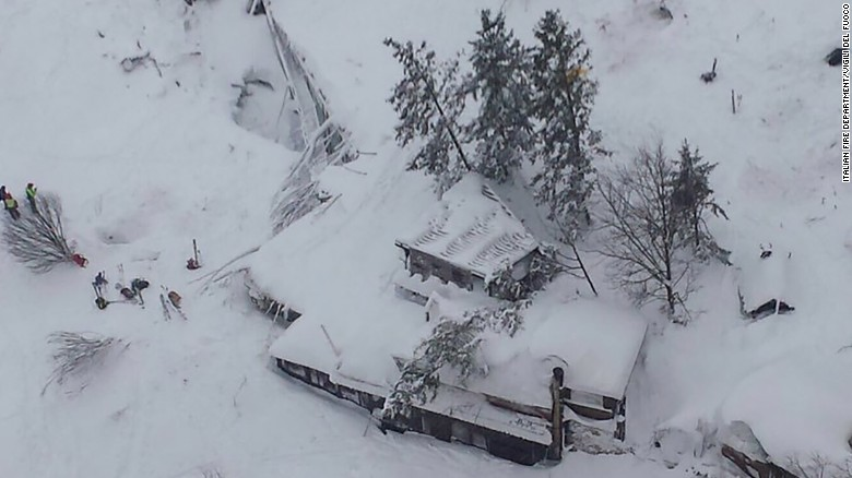 Hotel buried by deadly avalanche