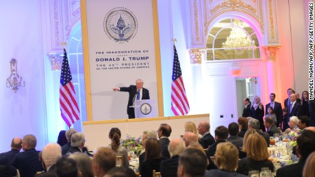 US President-elect Donald Trump speaks during a leadership luncheon at the Trump International Hotel in Washington, DC on January 19, 2017. Twenty-four hours before he takes the oath of office as the 45th US president, Trump arrived in Washington on Thursday, determined to transform American politics over the next four years. / AFP / MANDEL NGAN        (Photo credit should read MANDEL NGAN/AFP/Getty Images)