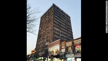 "Alistair Esfahanizadeh took a picture of the buildling on January 18, 2017 and posted, ""I probably took one of the last picturess of the building standing yesterday before the sunset."""