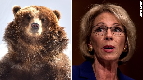 What Betsy DeVos' grizzlies and guns answer really tells us
