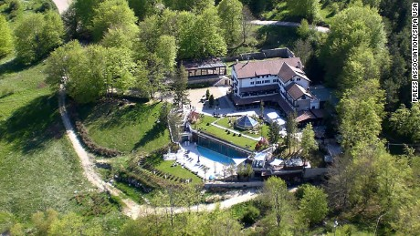 This file photo shows The Hotel Rigopiano, which sits at an altitude of 1,200 meters (nearly 4,000 feet).
