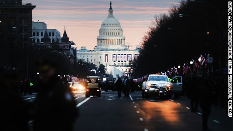 WASHINGTON, DC - JANUARY 20: The United States Capital building stands in the morning light on he morning of the inauguration on January 20, 2017 in Washington, DC. Washington and the entire nation are preparing for the transfer of the United States presidency later today as Donald Trump is sworn is as the 45th president Friday.  (Photo by Spencer Platt/Getty Images)