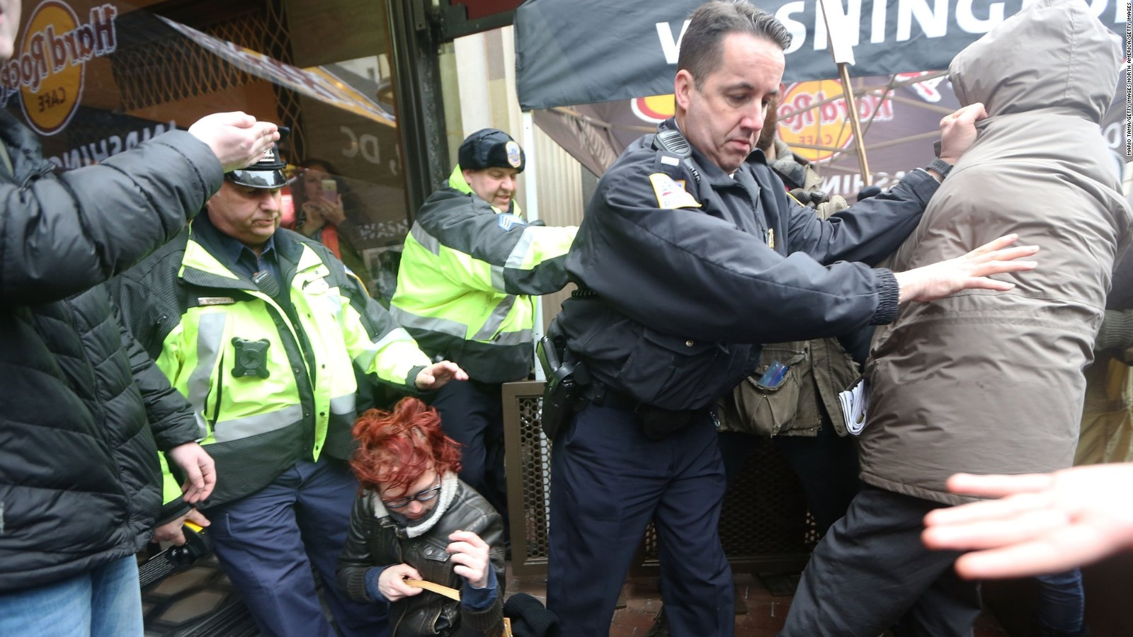 inauguration protests police injured more than 200 arrested