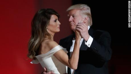 WASHINGTON, DC - JANUARY 20:  President Donald Trump dances with wife Melania Trump at the Liberty Inaugural Ball on January 20, 2017 in Washington, DC.  The Liberty Ball is the first of three inaugural balls that President Donald Trump will be attending.  (Photo by Rob Carr/Getty Images)